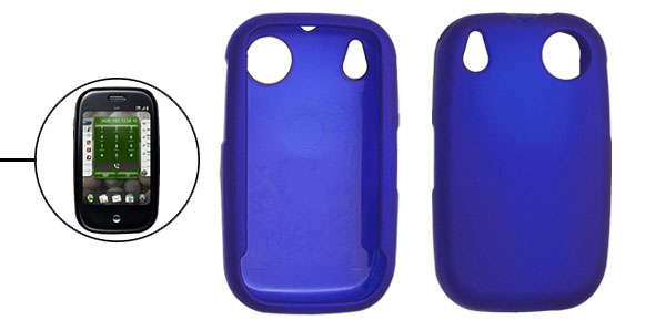 Blue Plastic Soft Protective Cover Case for Plam Pre