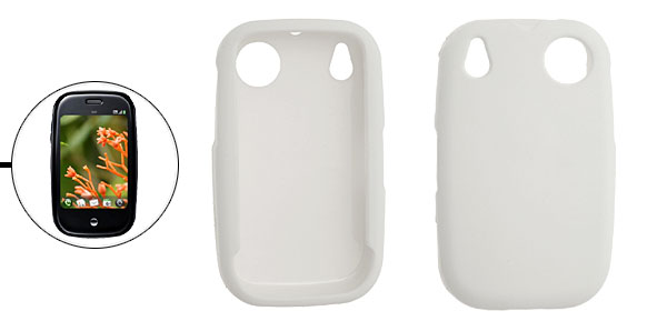 Rubberized Hard Plastic Case Shell Cover for Palm Pre White