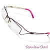 Half Rim Stainless Steel Eyewear Eyeglasses Frame Purple