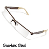 Slim Stainless Steel Frame Unisex Eye Wear Glasses