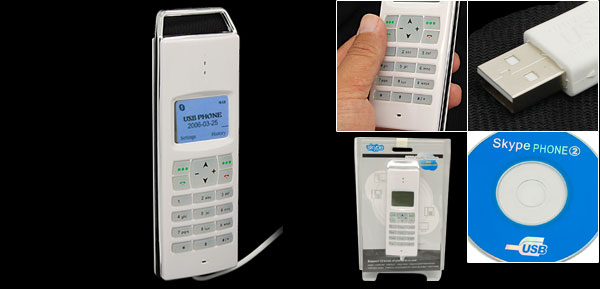 USB Internal VoIP Skype Phone Telephone with LCD Screen
