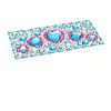 Blue Heart Model Rhinestone Seal Stylish Sticker