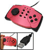 Handy 3-In-1 Laptop PC USB Game Controller Gamepad Joypad Red