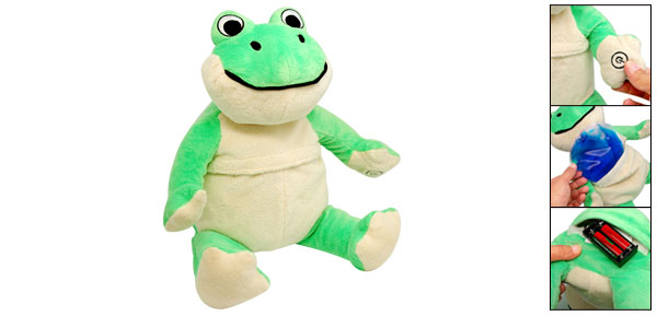 Comfortable Plush Lovable Frog Style Vibrating Massager