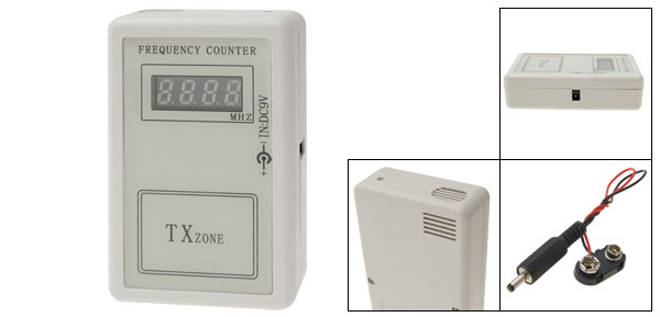 DC 9V Wireless Remote Transmitter Frequency Counter Reader