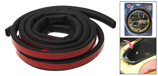 Car D Shape Rubber Hollow Air Sealed Seal Strip Door Weatherstrip