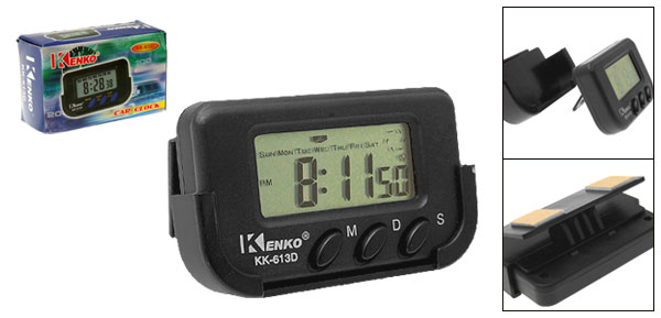 Small Digital Electronic Travel Car Alarm Stopwatch Clock
