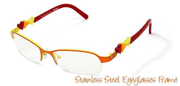 Unisex Style Stainless Steel Eyeglasses Eyewear Frame
