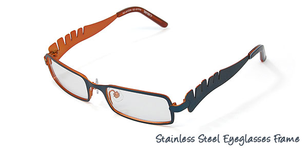 Full Rim Kids' Stainless Steel Optical Eyeglasses Frame