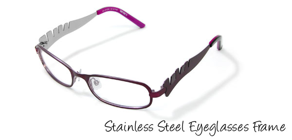 Girls' Stainless Steel Optical Eyeglasses Frame Purple
