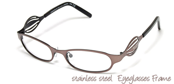 Ladies Fashion Full Rim Steel Optical Eyeglasses Frame