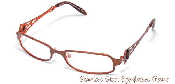 Ladies Full Rim Steel Optical Spectacle Eyeglasses Frame