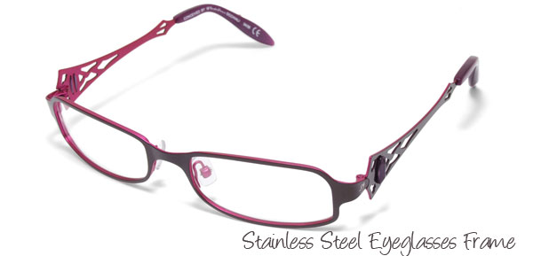 Steel Ladies Full Rim Optical Eyewear Eyeglasses Frame