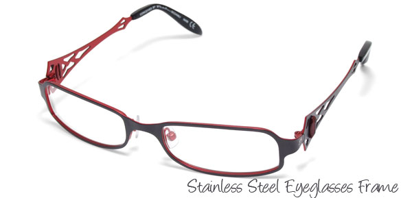 Steel Women's Full Rim Optical Eyeglasses Frame Black
