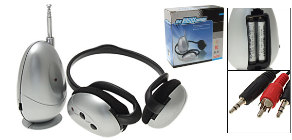 Wireless FM Radio with Headset Headphone for TV PC
