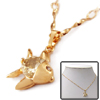 Fish Rhinestone Pendant Copper Ladies' Necklace