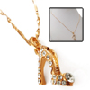 High-Heel Shoe Pendant Golden Plated Copper Lady's Necklace