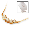 5 Rhinestone Pendant Fashion Leisrue Dress Necklace