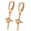 Rhinestone Cross Pendant Fashion Ladies' Dressing Earring