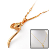 Fashion Rhinestone Golden Eye Catching Leisure Necklace