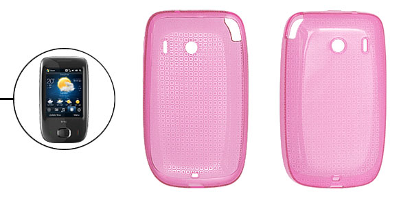 Protective Soft Plastic Skin Case for Dopod Touch Viva Pink