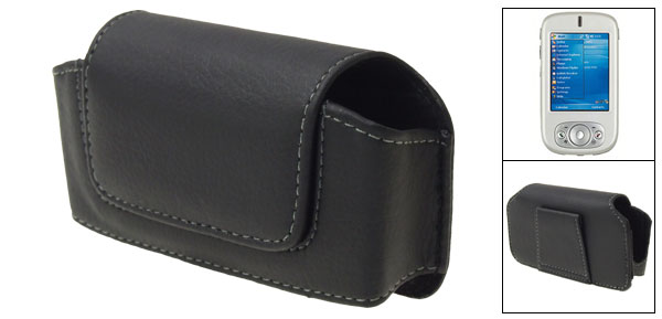 Anti-dirty Black Leather Case Pouch for Dopod 818
