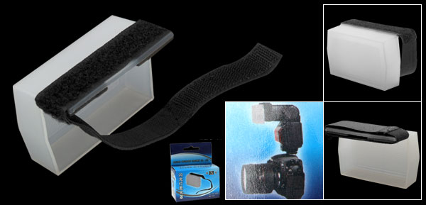 White Plastic Hard Flash Diffuser for Universal Digital Camera