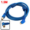 1.5m Male to Male TV Coaxial RF Fly Aerial Cable Teal Blue