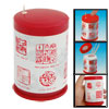 Red & White Plastic Can Shape Automatic Toothpick Holder