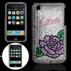 Manmade Beads Flower Plastic Back Case for iPhone 3GS