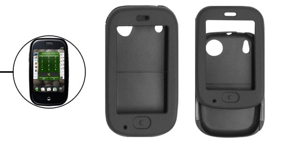 Black Silicone Skin Case Cover for Sprint Palm Pre
