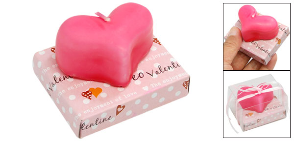 Pink Heart Shape Wax Candles for Wedding Parties