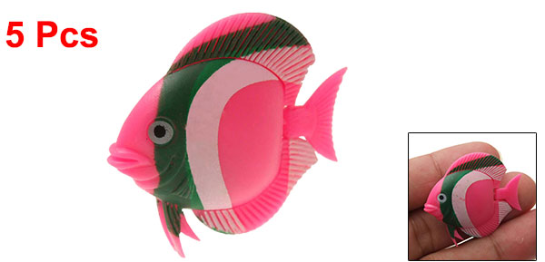 5 pcs Decorative Plastic Fish for Aquarium Water Tank
