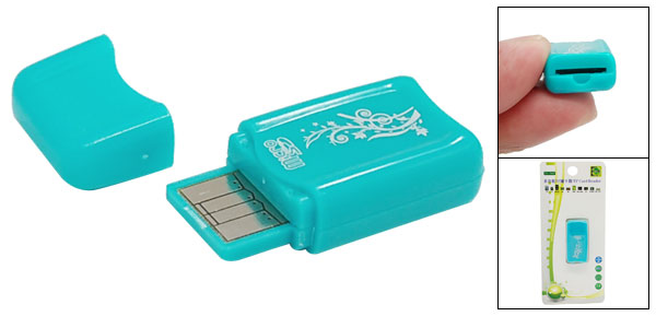 Mini USB 2.0 Memory Card Reader for Micro SD T-Flash TF