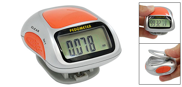 LCD Digital Pedometer Walking Step Counter with Clip