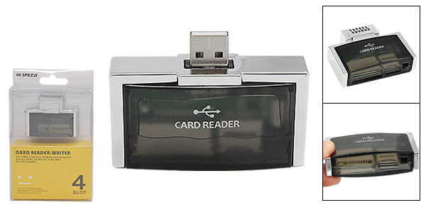 USB 2.0 Memory Card Reader Writer for SD MicroSD MS M2
