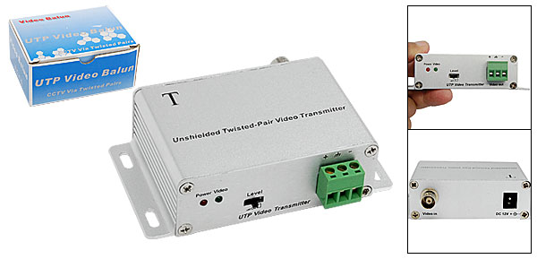 Unshielded Twisted-Pair Active UTP Video Transmitter Silvery