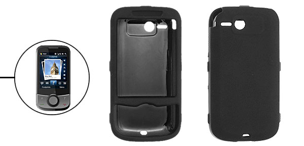 Rubberized Plastic Black Protective Cover Guard for Dopod T4242