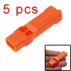 5pcs Plastic Orange Kids Children Compact Lifesaving Whistle