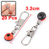 Red Fishing Line to Hook Shank Clip Connector Swivels