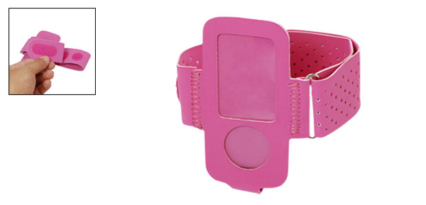 Portable Beautiful Fuchsia Case Holder Armband for iPod Nano 4G
