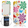 Colorful Print Rubberized Plastic Case Cover for Blackberry 9630