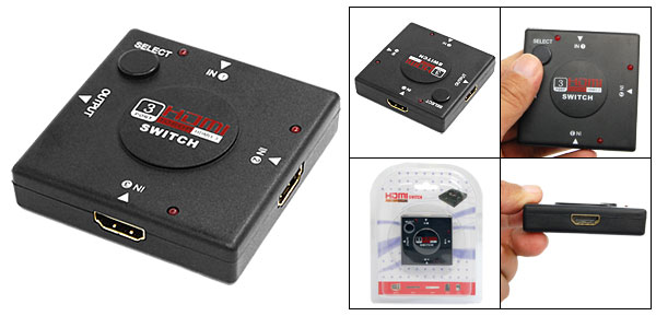 3 Port HDMI 1.3 Switch Switcher Splitter HDTV 1080P