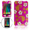 Fashion Flower Pattern Hard Plastic Case for iPod Touch 2
