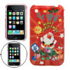 Santa Claus Style Hard Plastic Back Case for Apple iPhone 3G