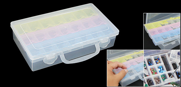 Electronic Components Parts Box Cases Plastic Colorful