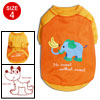 Size 4 Winter Orange Cute Pet Puppy Dog Clothes Apparel Shirts T-...