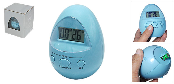 Egg Style LCD Multi-functional Digital Count Up Down Alarm Timer