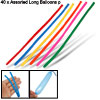 40 PCS Assorted Long Balloons Party Favors Latex