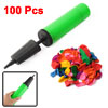 Latex Small Balloons + Pump Hand Held Inflator Assorted